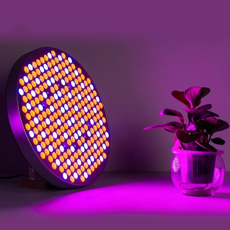 50W Round LED UV IR Fito Lamp AC85~265V Grow Light 174 Red & 68 Blue Leds Full Spectrum Greenhouse Garden Indoor Planting Seedin