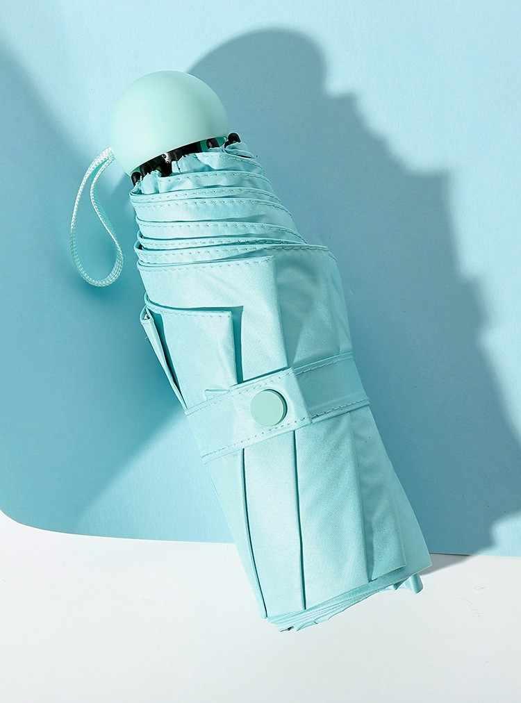 270 г Маленький модный складной зонт дождь для женщин подарок для мужчин Мини карманный зонтик для девочек анти-УФ водонепроницаемый портативный зонты для путешествий