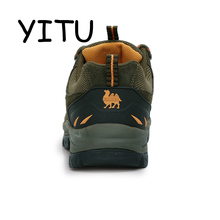 YITU Men's Winter Sneakers Waterproof Breathable Hiking Shoes Outdoor Mountain Climbing Trekking Boots Ankle Camel Hunting Shoes