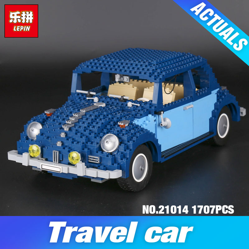 Lepin 21014 Technic Classic The Ultimate Beetle Set 10187 Educational Model Building Blocks Bricks Kits DIY children Day's Gifts 1707pcs new lepin 21014 classic beetle model car building kits blocks bricks for children christmas gifts legoinglys 10187
