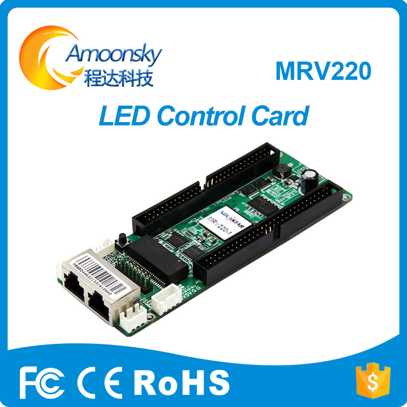 Nova MRV220 Asynchronous led screen display receiving card full color led flexible curtain display receiving PCB good price Nova MRV220 Asynchronous led screen display receiving card full color led flexible curtain display receiving PCB good price