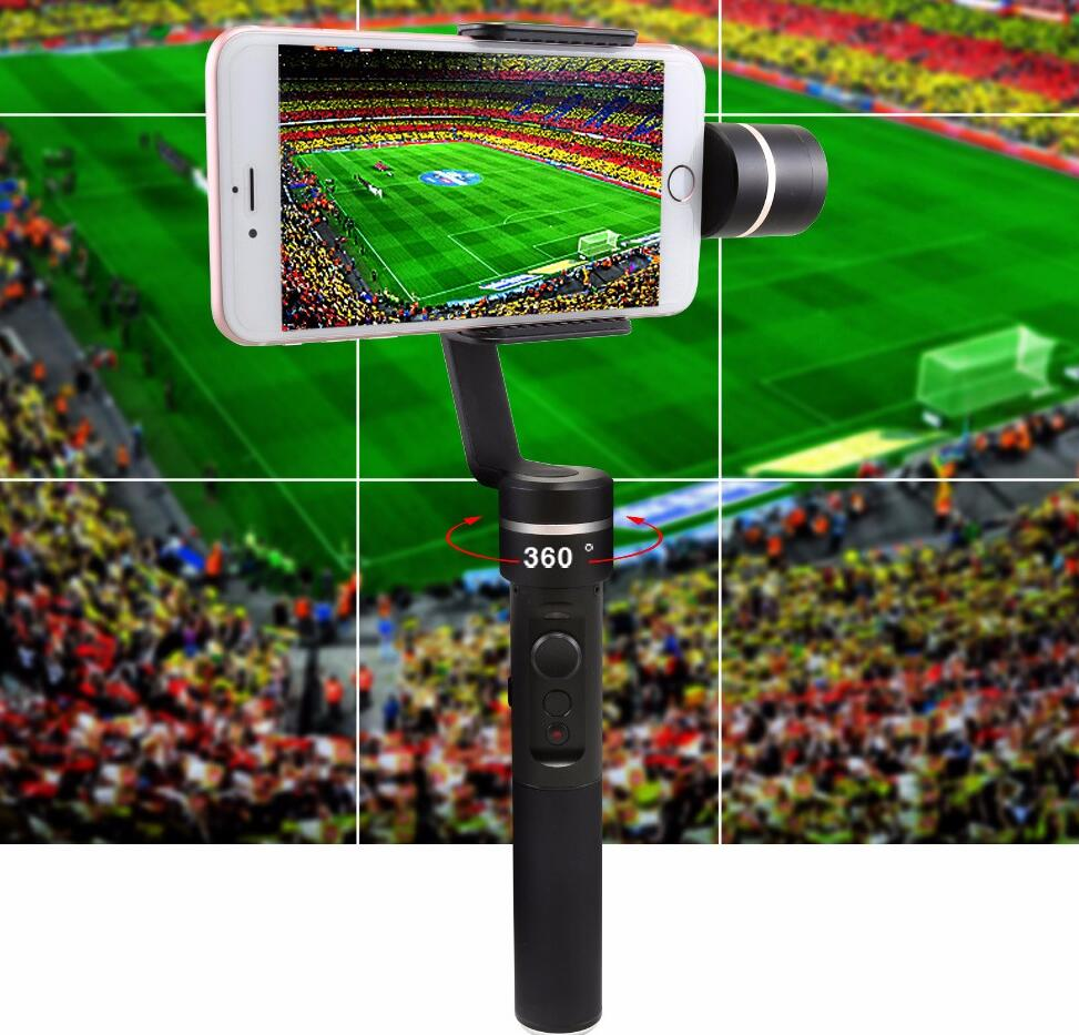 Feiyu SPG Live 3 axis handheld smartphone gimbal for iPhone SE 5 5c 6 6s plus 7 7 plus 8 hours working & FY SPG New arrival