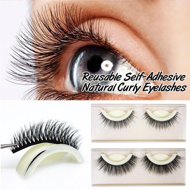 077cc1815fc 3D Mink False Eyelashes Extension Reusable Self-Adhesive Natural Curly  Eyelashes Self Adhesive Eye lashes Makeup Tools