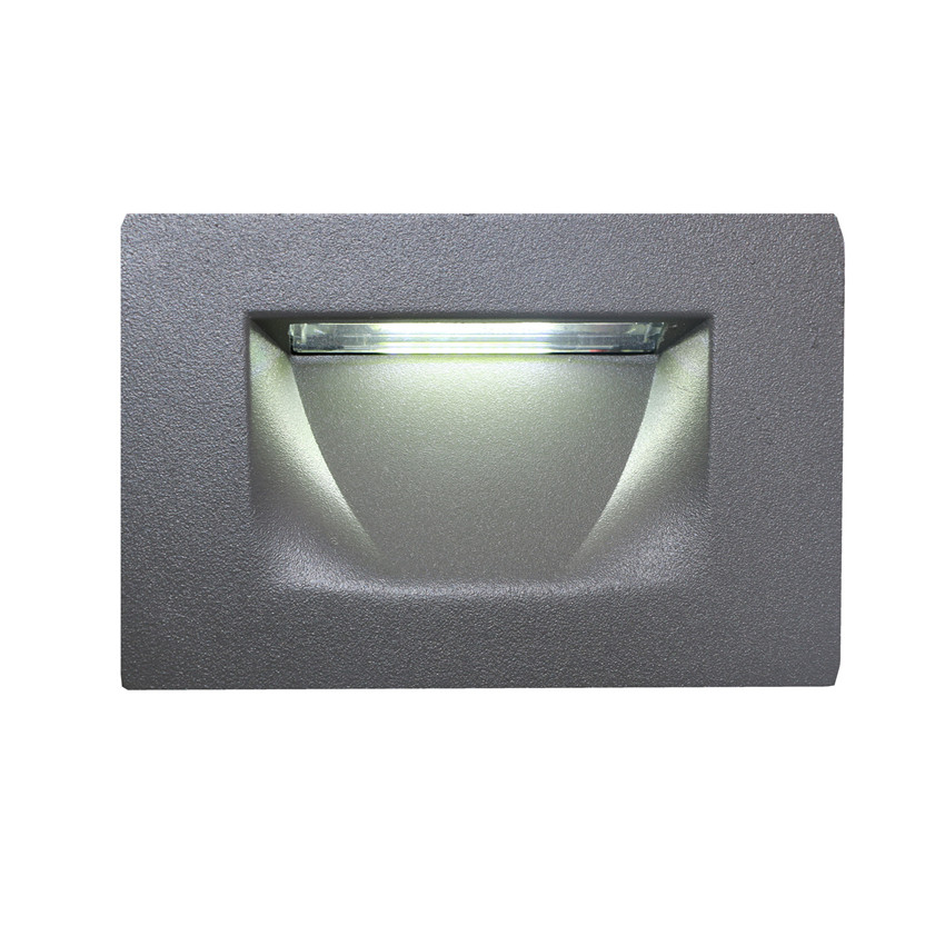 Led Stair Light Aluminum Wall Lamp 3W Recessed LED Step Lamp led Corner Lamps AC85 265V Outdoor Step Lighting Gray BL59