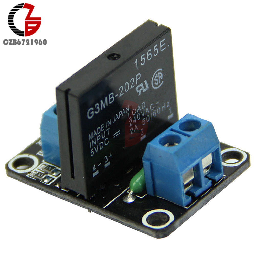 DC 5V 2A 1 Channel SSR Solid State Relay Module High Level Trigger Board with Resistive Fuse G3MB-202P AC 240V DIY 4 channel 5a high level trigger solid state relay module board 3 32v power supply and trigger voltage