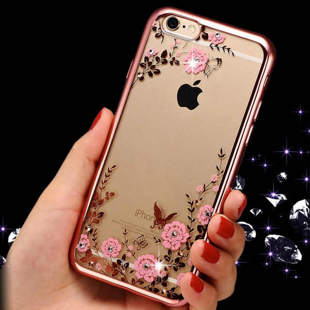Sang Trọng Dành Cho iPhone X 8 7 6 5 4 4s 5 5s SE 6 6 S Plus 6 plus 6 SPlus 7Plus 8Plus TPU Silicon Siêu Mỏng Lấp Lánh Nhà Ở
