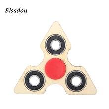 Elsadou Wood Hand Tri-Spinner 2017 Best Fidget Spinner Toys Finger