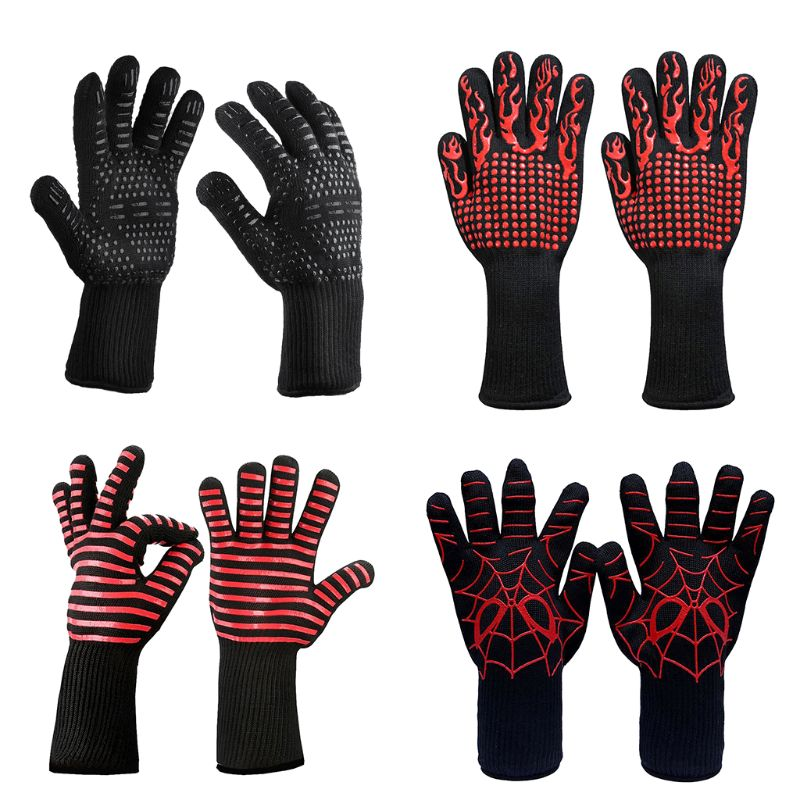 1pair Fire Gloves High Temperature Resistant Gloves Microwave Oven Outdoor Barbecue 932F -1472F BBQ Hot Flame Proof Working Glov1pair Fire Gloves High Temperature Resistant Gloves Microwave Oven Outdoor Barbecue 932F -1472F BBQ Hot Flame Proof Working Glov