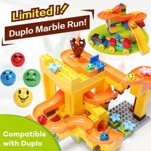 FUNLOCK Legoe Block City Duplo Model Building Assemblage Parts Toy Brand Marble Run Castle Fun Kids Toys
