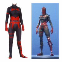 Hot Game Battle Royale Women Cosplay Costume Red Knight Zentai Bodysuit Jumpsuits Halloween Party Suits
