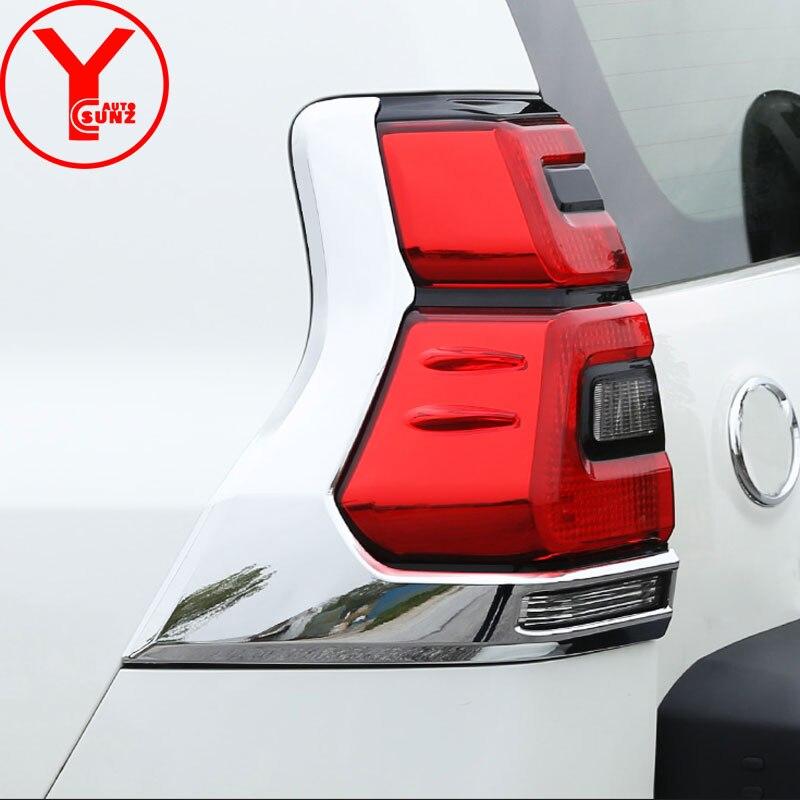 2018 ABS chrome couvercle de feu arrière pour Toyota Land cruiser Prado fj150 voiture style lampe couverture accessoires pour prado 2018 YCSUNZ