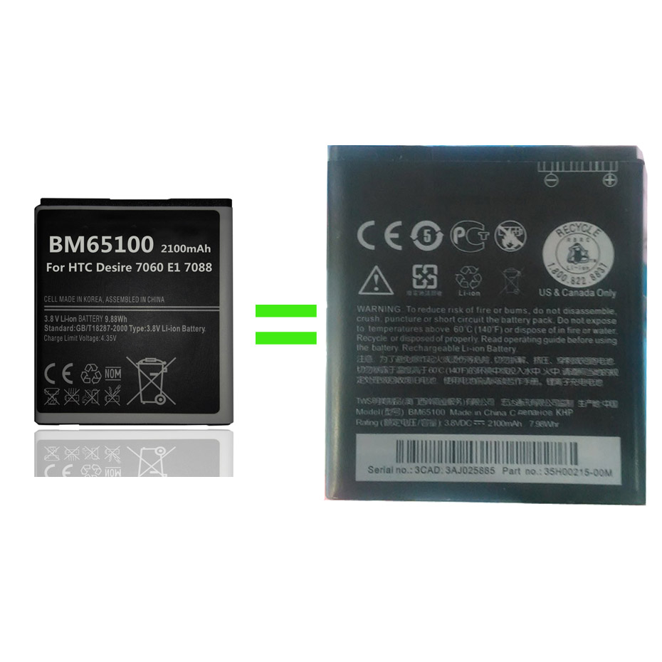 New 2100mah Bm65100 Battery For Htc Desire 601 7060 E1 7088 603e Sony Ericsson T630 T628 Service Guide Manual 1 2 3 4 5 6