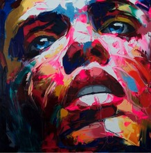 Custom picture oil painting Palette knife man Face Oil on canvas Hand painted Francoise Nielly