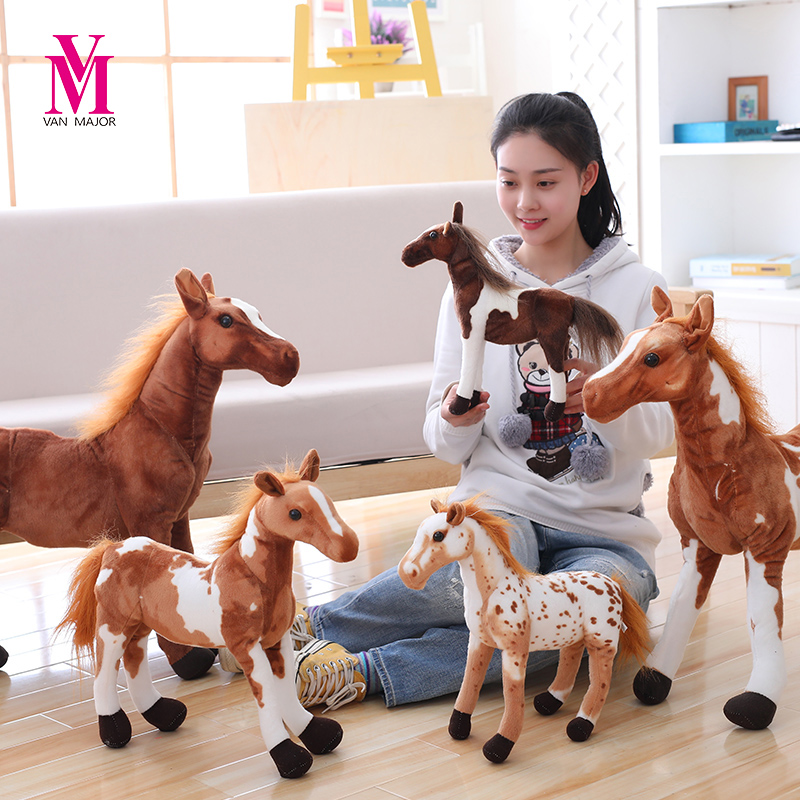 1pc 30cm Simulation Horse Plush Toys Cute Animal Endowed Zebra Doll Soft Realistic Horse Toy Children Birthday Gift Home Decorat ...