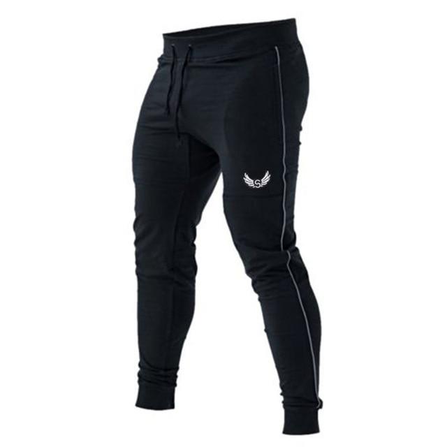 Hombres Pantalones de Chándal de Marca 2017 Algodón Masculino Pantalones  Harem Joggers Mens Joggers Ocasionales Sólidos 2b6e091d89b93