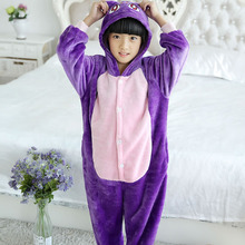 Купить с кэшбэком Pajama Tops winter girl boy children's pajamas baby onesie kids pajama set animal cartoon animals Hooded sleepwear Hooded Unisex
