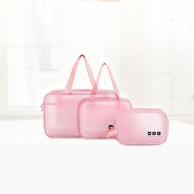 Diniwell Wanita Perjalanan Transparan Tas Kosmetik Zipper Makeup Case  Membuat Tas Tas Organizer Penyimpanan Kantong Mencuci b8e420c155