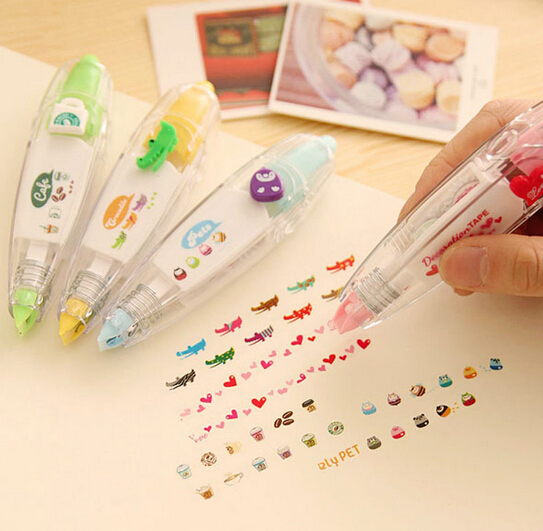 1pc/lot Creative Cartoon Design Correction Tape For School Kids Stationery Office Supplies(tt-4600)