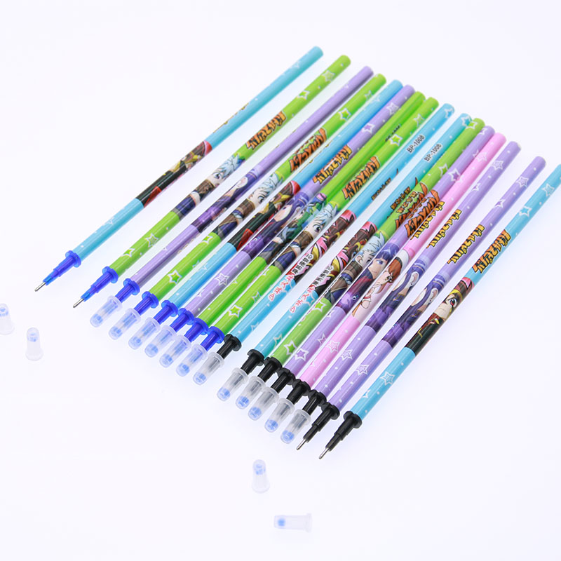 Wholesale! 8pc New Erasable Pen Refill Manufacturer With Child Eraser Student And Office Gel Pen Add 0.5 M Black / Blue ластик brand new eraser
