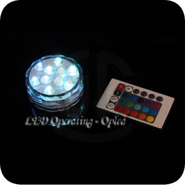 Mini UFO Underwater LED Aquarium Submersible Light RGB Remote Control  4