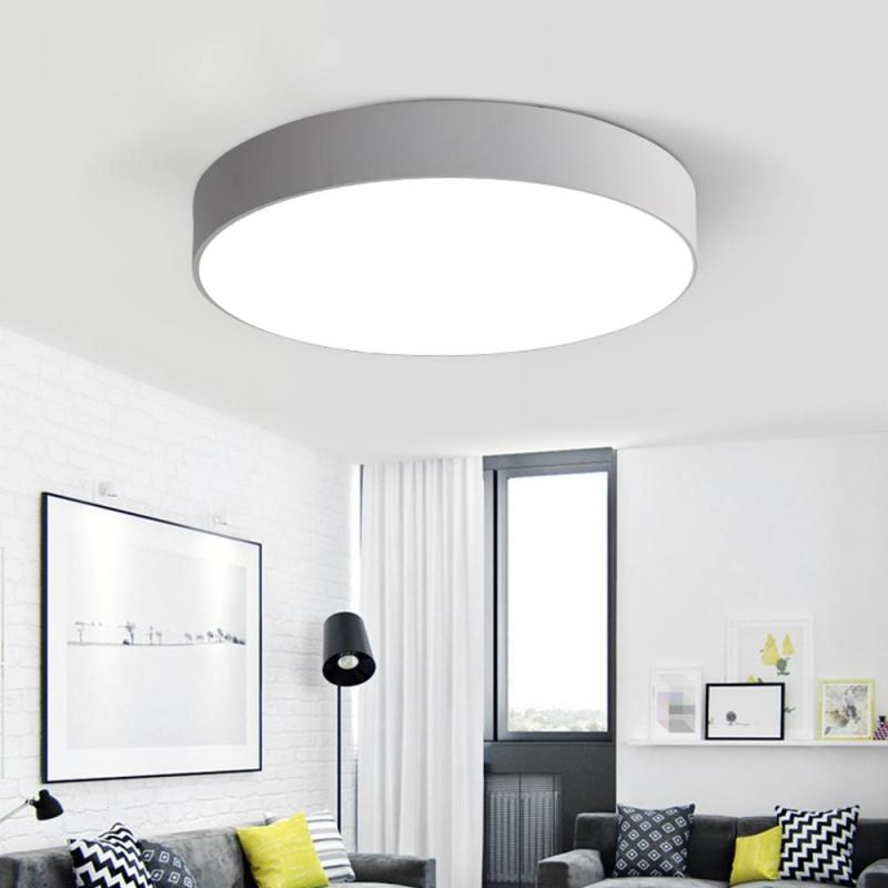 Ultra Thin Modern LED Ceiling Light Metal Simple Decoration Fixtures Study Dining Room Balcony Ceiling Lights Office Lamp Z3 simple style ceiling light wooden porch lamp square ceiling lamp modern single head decorative lamp for balcony corridor study
