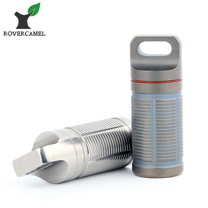 Rover Camel Portable Titanium Pill box Case Waterproof Battery Storage Ultralight Titanium Container Ta6110rc руководящий насос range rover land rover 4 0 4 6 1999 2002 p38 oem qvb000050