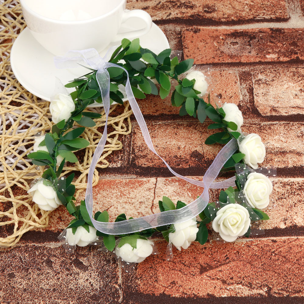 Wedding Bridesmaid Boho Floral Flower Festival Forehead Headband  hair accessories For women Hair Garland headbands for women