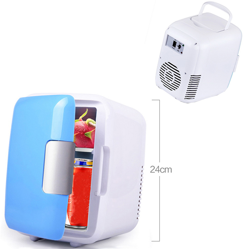 Hot sale Travel Refrigerator blue 2018 new Icebox Cooler Warm Use 12V Portable 4L Mini Car Fridge Freezer ...