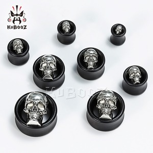 Image 4 - KUBOOZ Wood Ear Piercing Body Jewelry Ear Plugs Tunnels Expander Studs Gauges Earrings Extender Plugs Jewelry Fashion Gift