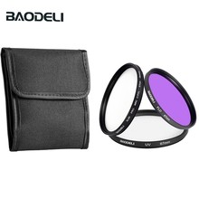 BAODELI Dslr Mrc Filtro One Set CONCEPT UV CPL FLD Lens Filter 49 52 55 58 62 67 72 77 82 mm For Camera Cannon Nikon Sony a6000