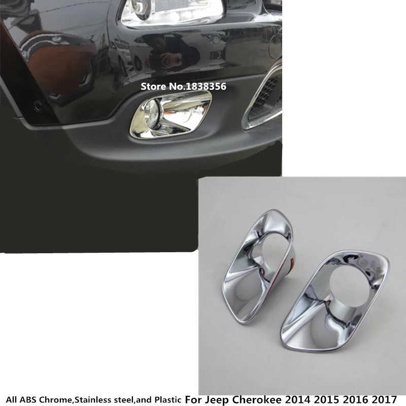 AAL for 2014 2015 2016 JEEP CHEROKEE FRONT FOG LAMP light Chrome COVER