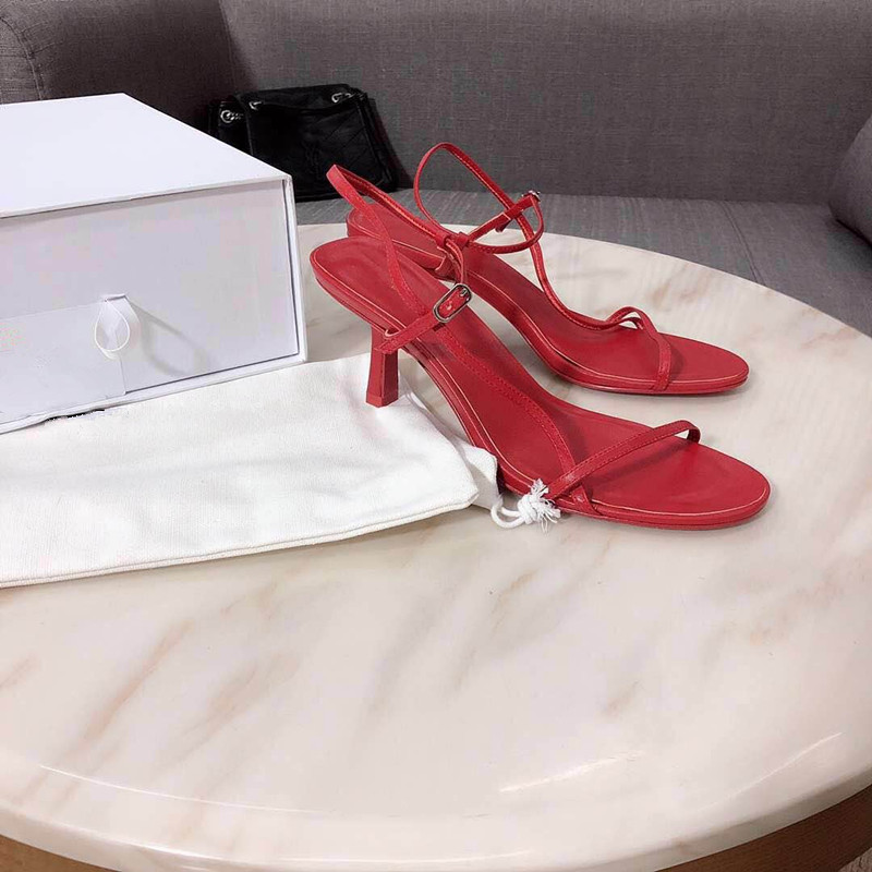 2019 New Classic women's shoes pointed rivets high heels fairy buckle stiletto sandals women Handmade high-end luxury(China)