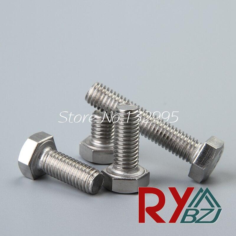 Нержавеющая сталь А2 левой резьбой DIN933 болт с шестигранной головкой М5*40 М6*40 М8*40 с гайкой