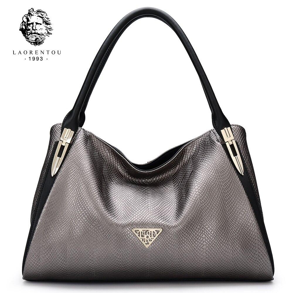 laorentou luxo silt bolso lizard Formato : Casual Tote