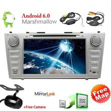 Android 6.0 dvd-плеер автомобиля для Toyota Camry двойной дин стерео GPS 7′ Сенсорный экран автомобиля Радио головного устройства Wi-Fi MirrorLink + Камера