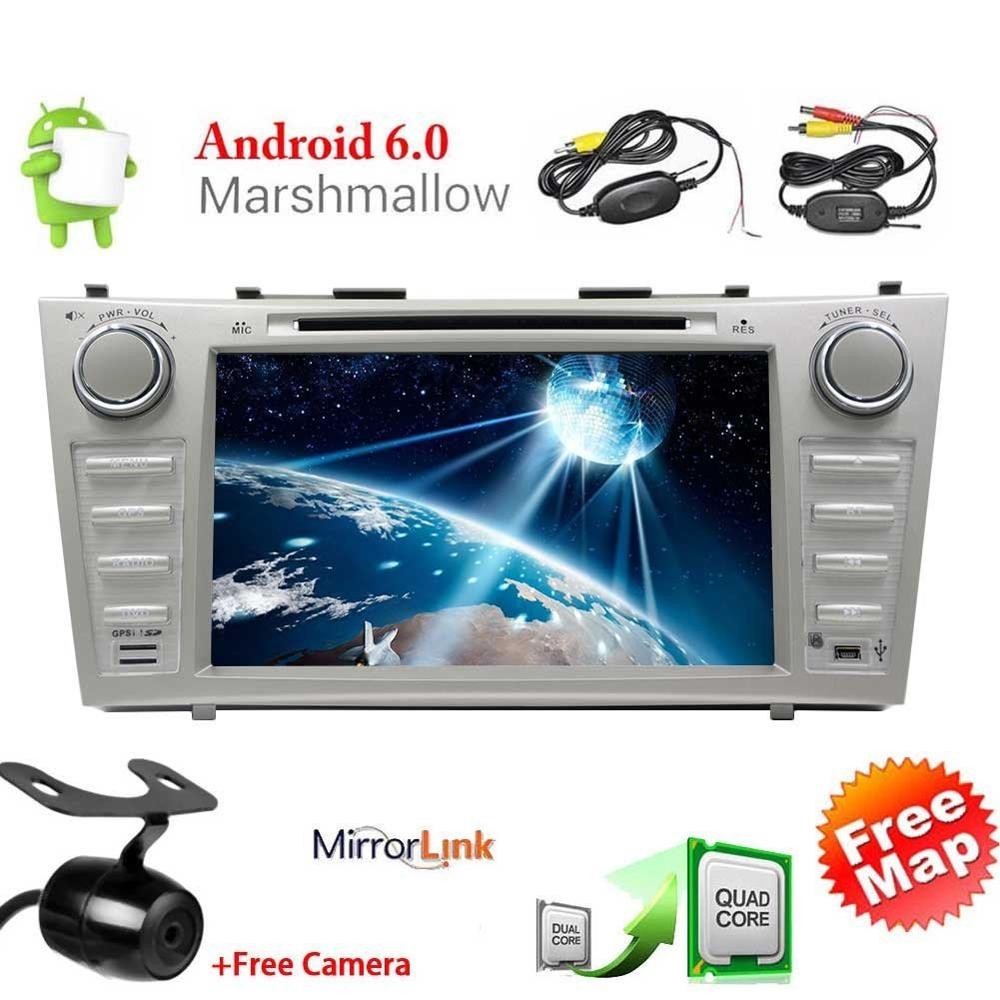 Android 6.0 Car DVD Player for TOYOTA CAMRY Double Din Car Stereo GPS 7 Touch Screen Car Radio Headunit WiFi Mirrorlink+Camera