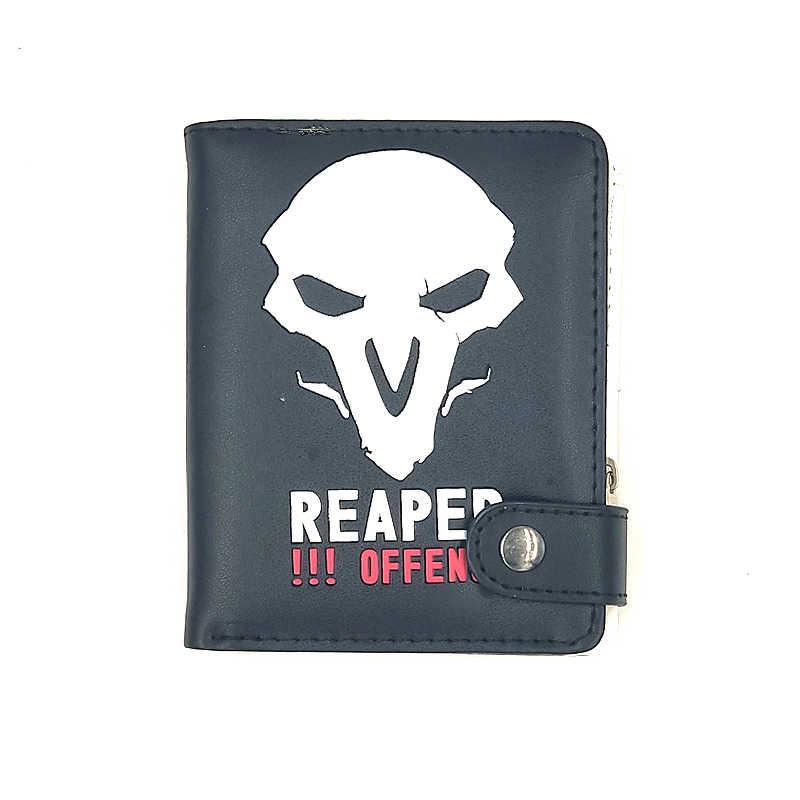Оптовая продажа overwatch Reapeshort застежка-молния кошелек Overwatch игра Reaper Genji Tracer кошелек для денег для школьников