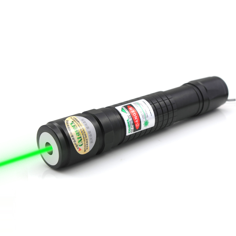 oxlasers new focusable 520nm 200m W burning green laser pointer Lazer pointer flashlight fat beam with 5 star cap free shipping