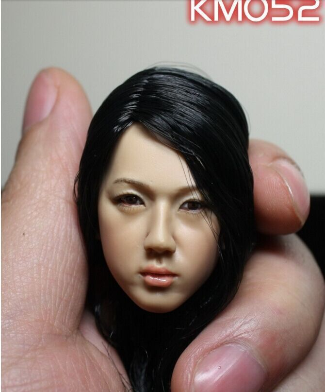 Kumik Toys 1 6 Female Black Hair Head Sculpts Model For 12 Action Figure Body Accessory