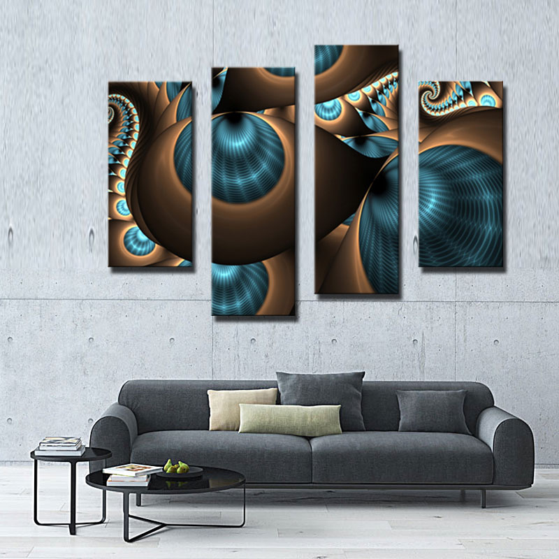 4 Picture Combination Abstract Blue Brown Like Several Holes Wall ...