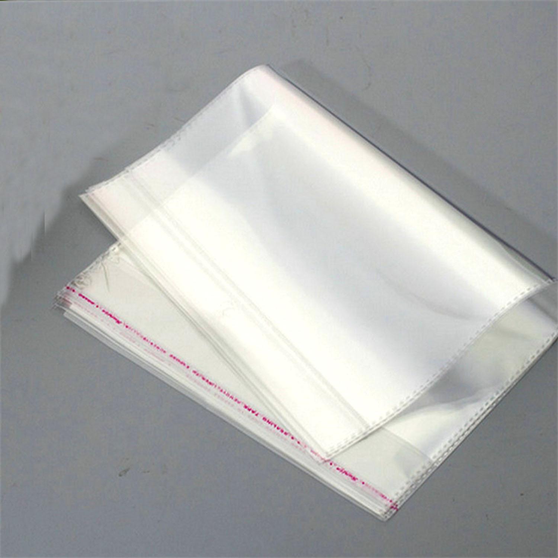 50Pcs Reclosable Clear OPP Polypropylene Zipper Bags Packaging for Jewelry