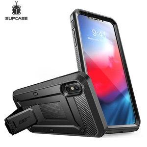 Image 1 - SUPCASE dla iPhone Xs Max Case 6.5 cala UB Pro wytrzymała obudowa na cały korpus z wbudowanym ochraniaczem ekranu i podstawką