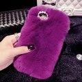 100% real pele de coelho case para huawei p8 lite hot vender moda de luxo case para huawei p8 lite cover, 1/pc livre grátis