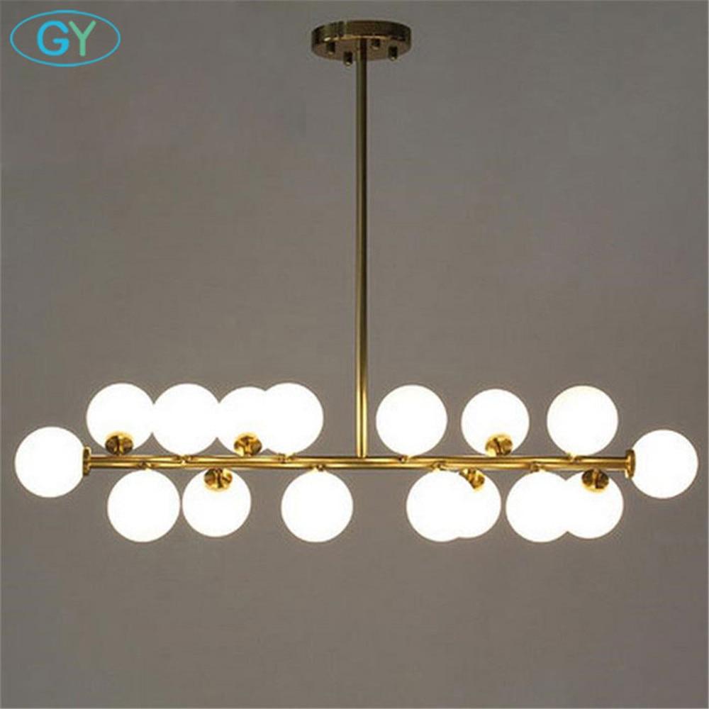 Molecular lustres chandelier modern  hanging lights Nordic Art  Globe glass shade dinning room island light lamps