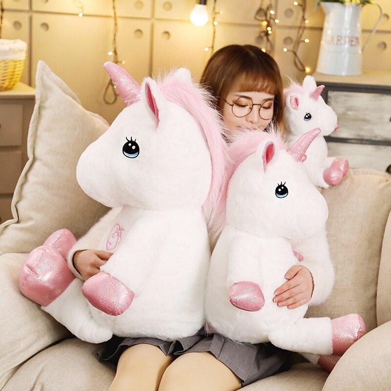 35-80cm Lovely Unicorn Plush Toy Stuffed Kawaii Soft Unicorn Plush Toys For Children Creative Birthday Gift For Girls Lovers