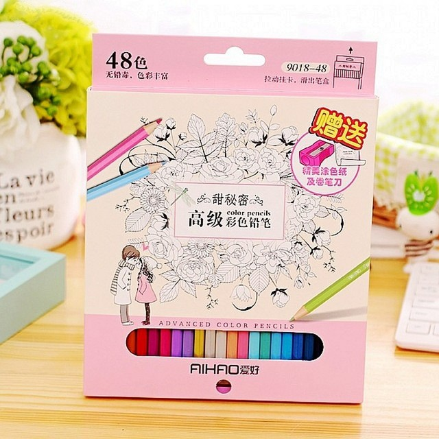 Secret Garden Coloring Books Dedicated Color Pencil Lapices De Colores Cor Painting Graffiti Colored