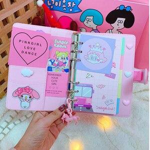 Image 5 - Diy Notebook Schaafmachine Kawaii Journal Meisje Dagboek Organizer Kleurrijke Boek Note Student Dagelijks Weekplan Briefpapier Geschenken