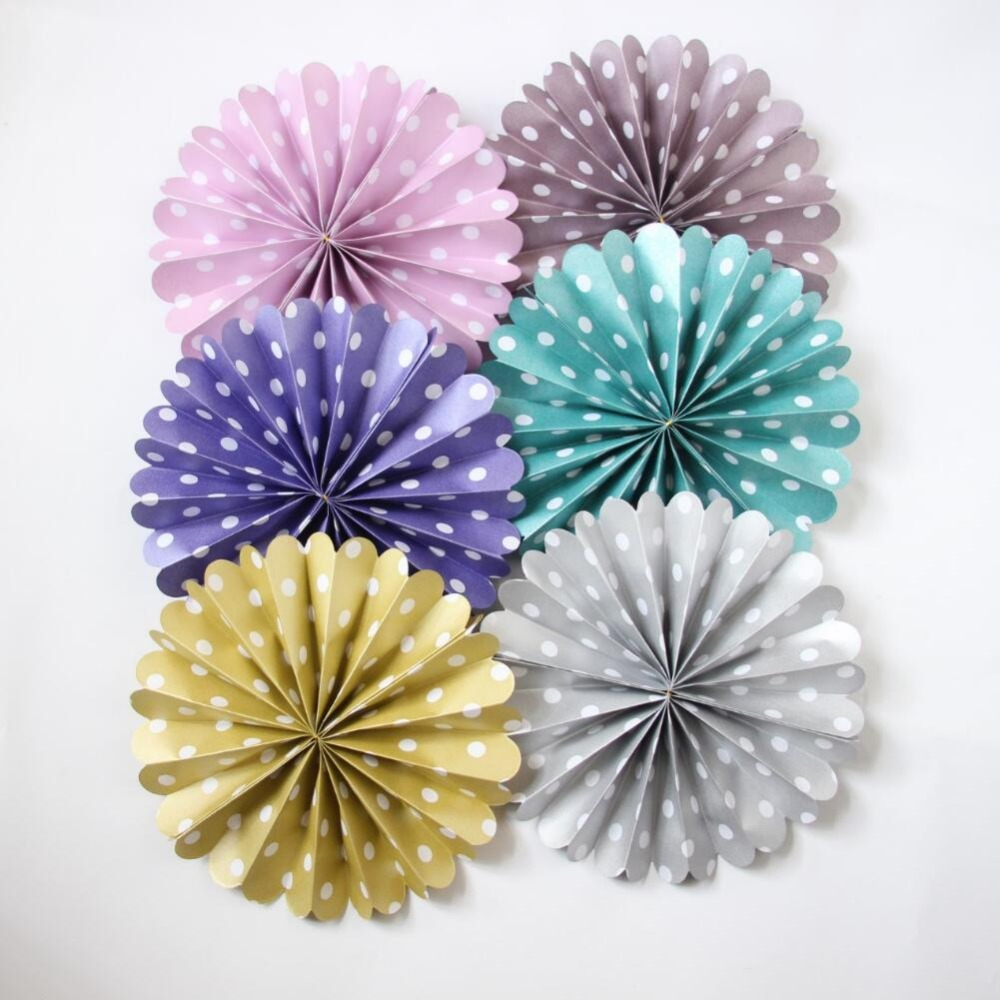 6pcs 8 Paper Fan Flowers Wedding Party Home Birthday Tissue Paper