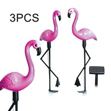 3pcs LED Solar Garden Light Flamingo Lawn Lamp Waterproof Led Lights Outdoor For Decoration Parties