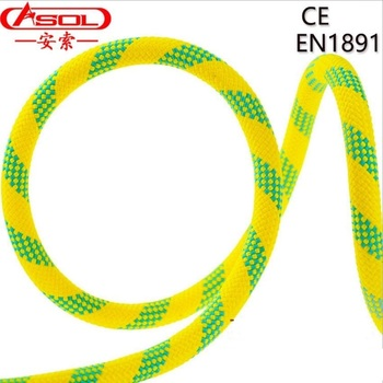 ASOL Lifeline Climbing safety downhill static rope fire fighting survive Escape Rope 10.5-12MM 3800kg European standard CE